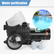 SUNCOO Swimming Pool Pump Electric 2HP 110-120V Portable Pool Pump Motor Above Ground Pressure Water Filter Black