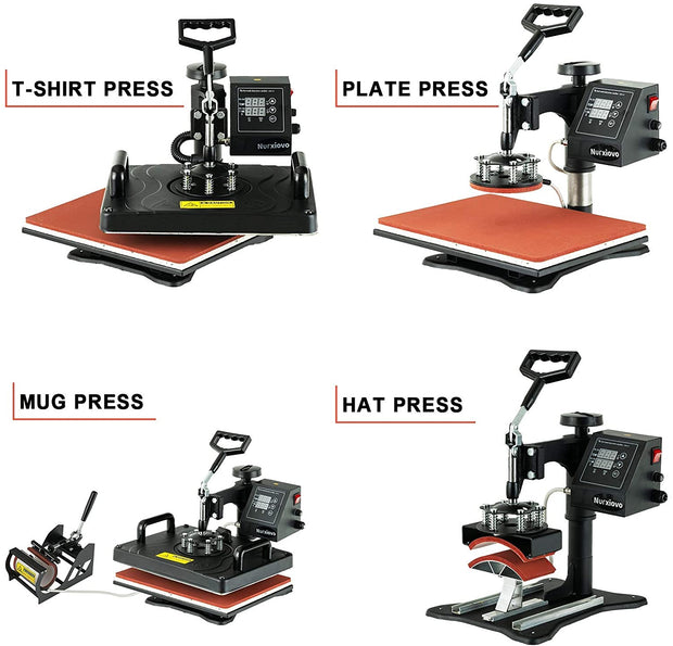 Nurxiovo 8 in 1 Heat Press Machine for T Shirts, Mug, Hat, Plate, Cap sale