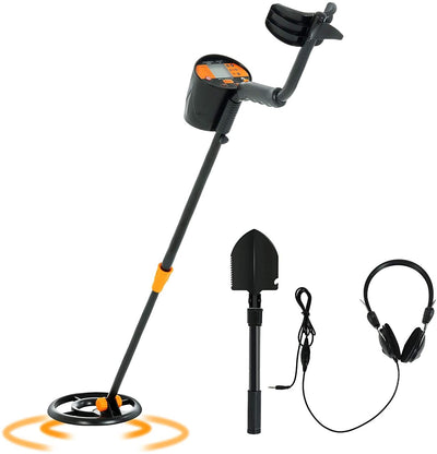 SUNCOO  Metal Detector High Accuracy Treasure Hunt Waterproof Search Coil LCD Display