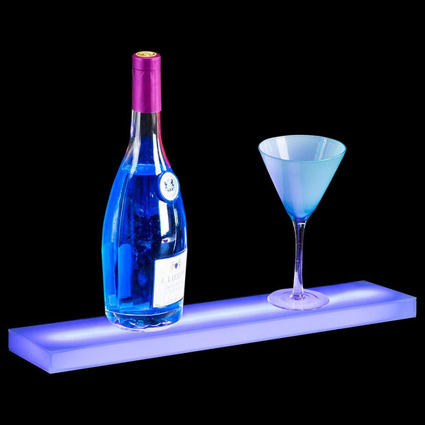 Nurxiovo LED Lighted Liquor Shelf 20/24/32/36 Inch Bottle Display