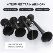 SUNCOO Train Air Horn, 149DB Loud 12V Air Horn with Complete Onboard System,Train Horns Kit