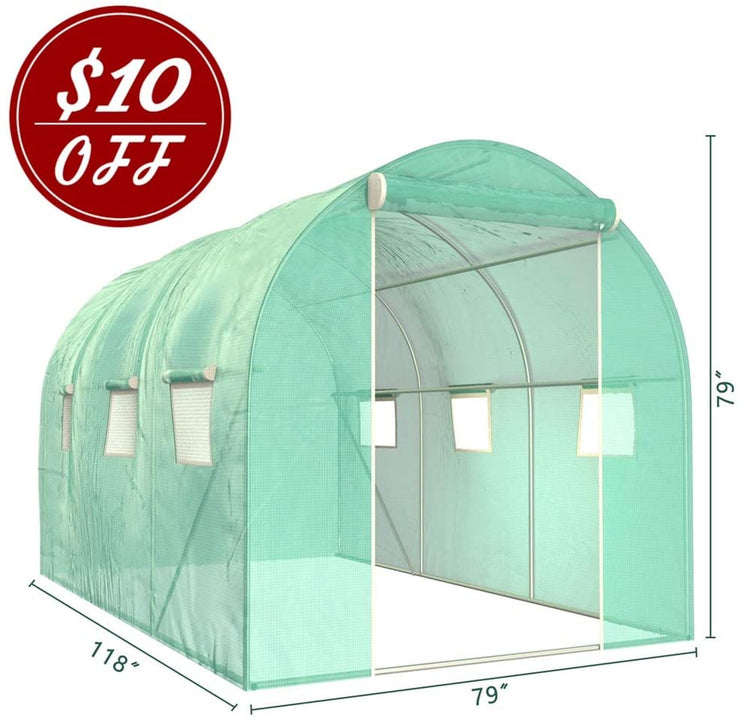 SUNCOO Greenhouse, Portable Greenhouses Plastic  (10' X 7' X 7')