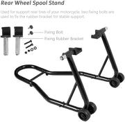 SUNCOO Sport Bike Motorcycle Wheel Stands Fork for Motorbike Maintenance