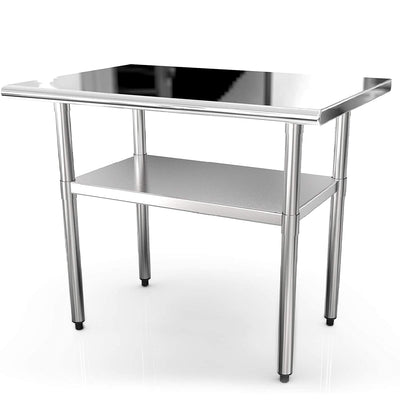 36x24 Inches Commercial Prep Table Stainless Steel Work Tables Nurxiovo sale