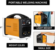 SUNCOO 110V ARC Welder, 160Amp Stick Welder Portable MMA AC Welding Machine with Work Clamp,Orange