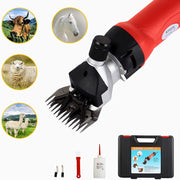 Sheep Shears 350W, Farm Electric Clippers for Goats, Alpaca, Llamas,  Large Dog Farm Livestock,(Red)