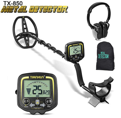 SUNCOO Metal Detector water proof 11 inch Coil Gold Detectors High Accuracy for Kids Adults Metal Finder LCD Display Adjustable Treasure Hunting