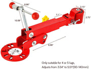 Fender Roller Tool, Heavy Duty Lip Rolling Extending Tools, Wheel Arch Rolling Tool, Flaring Reformer, Red