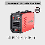 Non-Touch Pilot Arc Plasma Cutter DC Inverter Metal Cutting Machine, Automatic Dual Voltage 110/220V Red