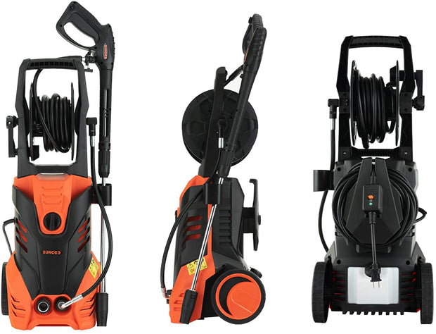 SUNCOO Electric Pressure Washer, 2950PSI 2.4 GPM Portable Power Washer with Spray Gun, Adjustable Nozzle,20ft High Pressure Hose