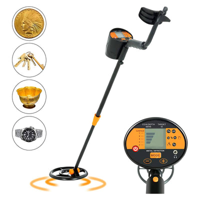 SUNCOO Adjustable Metal Detector for Kids Adults Waterproof Search Coil Treasure Hunter 2 Modes High Accuracy