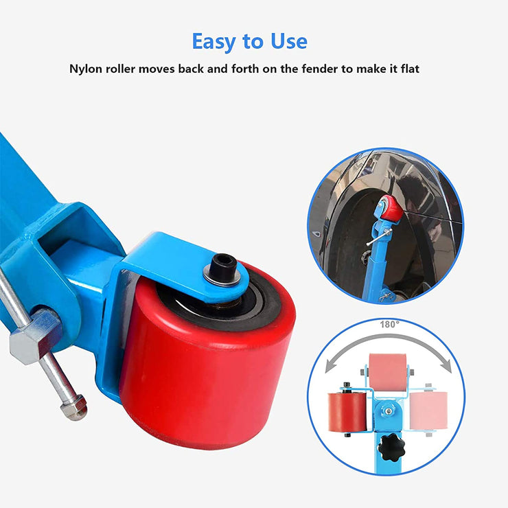 SUNCOO Fender Roller Tool, Fender Reforming Extending Tool,Remove Tire Rub for Car Truck,Blue