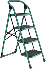 4 Step Ladder, Folding Step Stool w/Non-Slip Rubber Feet