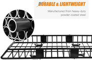 64 Inch Universal Roof Rack Cargo Basket Extension with 250 Lbs Capacity Car Top Luggage Holder Wind Fairing Cargo Carrier