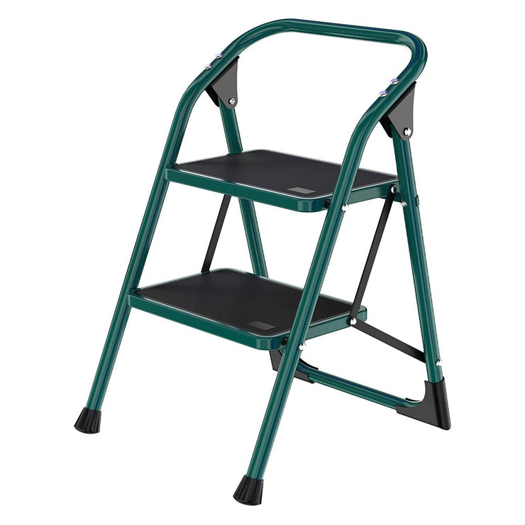 SUNCOO 2 Step Ladder, Folding Step Stool w/Wide Steps