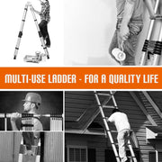 SUNCOO Multi-Position Ladders, 2.8-16.5Ft. Extension Ladder