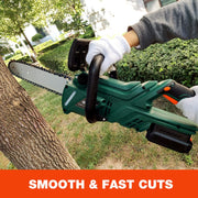 SUNCOO 20V Max Cordless Chainsaw, 10-Inch Battery Powered Chain Saw