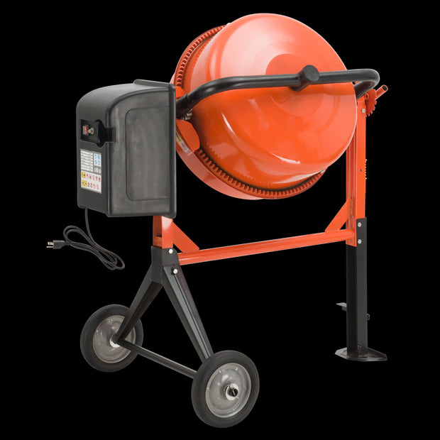 SUNCOO 3/4HP 4.2 Cu Ft Electric Concrete Cement Mixer Mortar Mixing Stucco Seeds Portable Barrow Machine