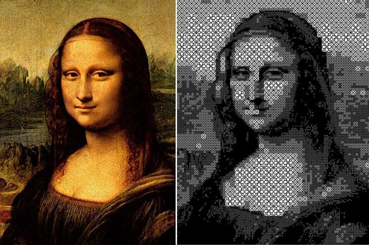 Collision Between 3D Printing Technology and Art  Mona Lisa's Largest 3D Printing Pixel Painting on Display in Shanghai-01