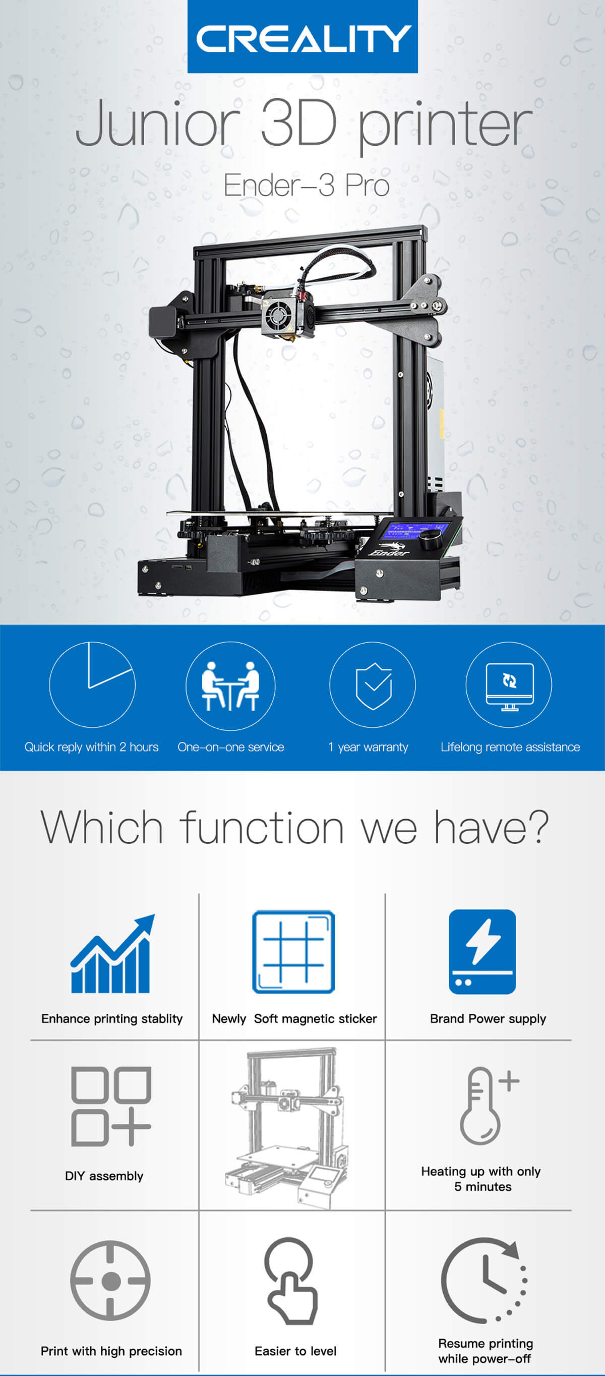 CREALITY 3D Printer Ender 3 Pro - CREALITY Global