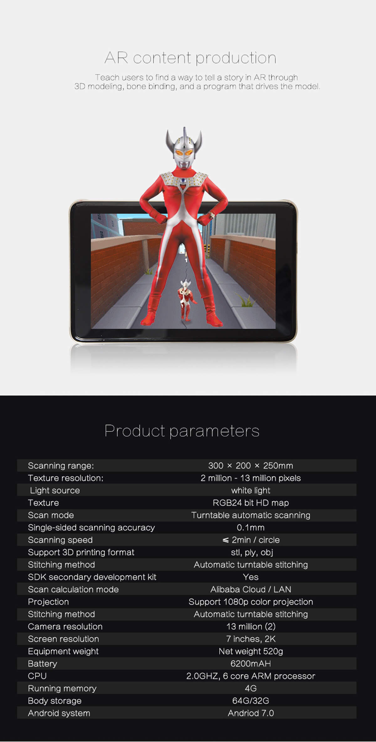 Creality3d CR-T Portable 3D Intelligent Scanner - CREALITY