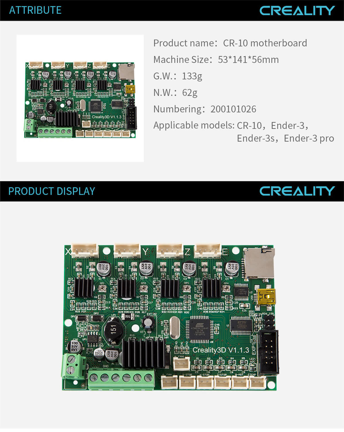 creality-3d-printer-CR-10-Motherboard-11