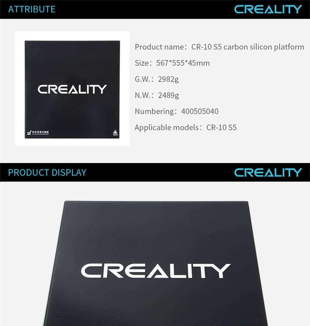 creality-3d-printer-CR-10-S5-Carbon-Silicon-Platform-11