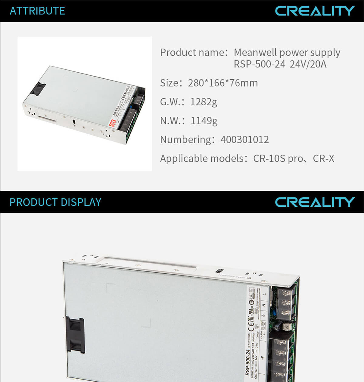creality-3d-printer-Meanwell-Power-Supply-RSP-500-24-24V20A-11