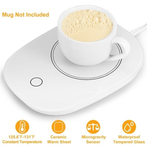 Image of Electric Cup and Mug Warmer for Hot Drinks  with Gravity Sensor and Auto Off