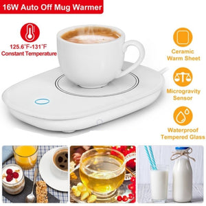 Electric Cup and Mug Warmer for Hot Drinks  with Gravity Sensor and Auto Off