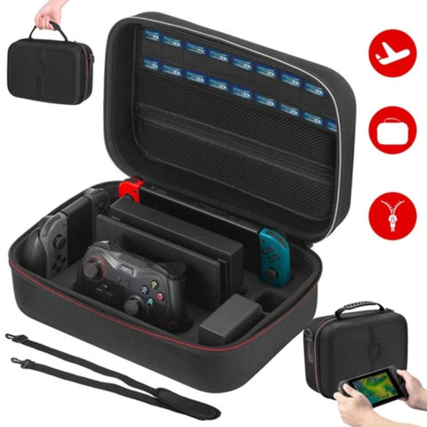 Portable Carrying Case for Nintendo Switch  with Handle and Shoulder Strap