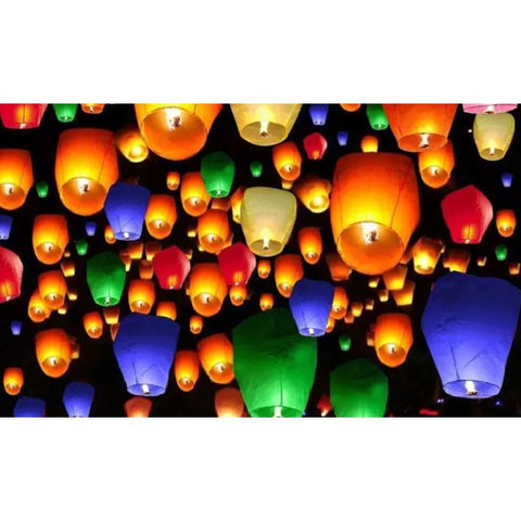 Image of 100% Biodegradable Paper Sky Lanterns - 10  20  30  or 40 Pack