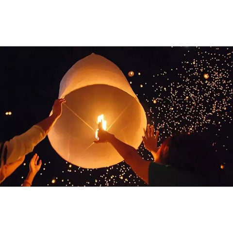 100% Biodegradable Paper Sky Lanterns - 10  20  30  or 40 Pack