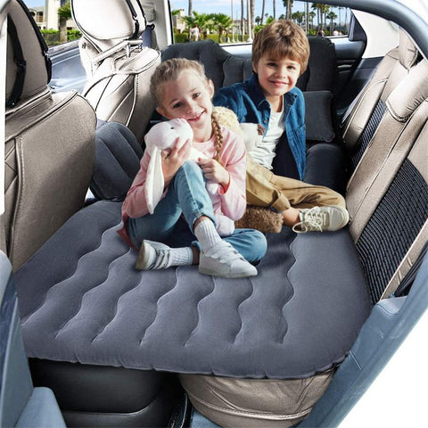 Image of Inflatable Car Air Mattress Back Seat – Pump Kit with 2 Air Pillows