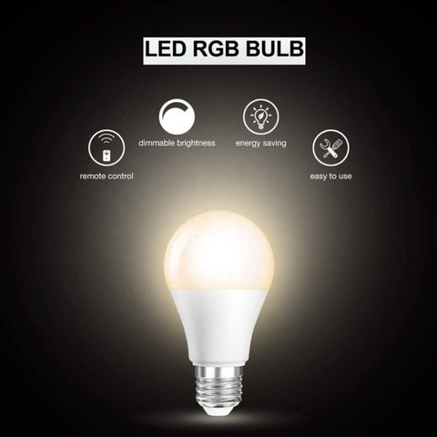 LED Bulbs  Remote Control 5W A19 E26 RGB Bulbs Dimmable - 2 Pack