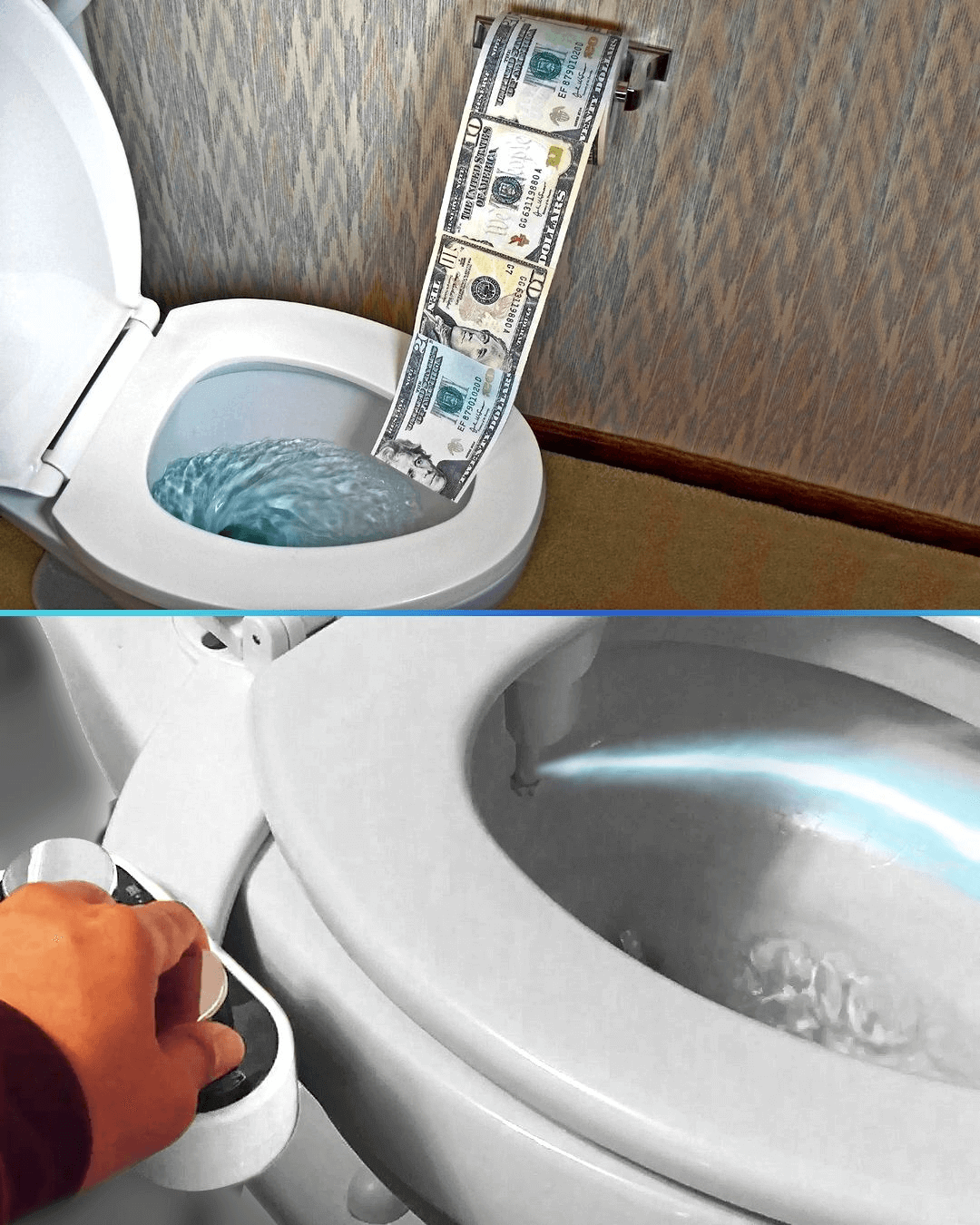 Non electric bidet toilet & seat attachment