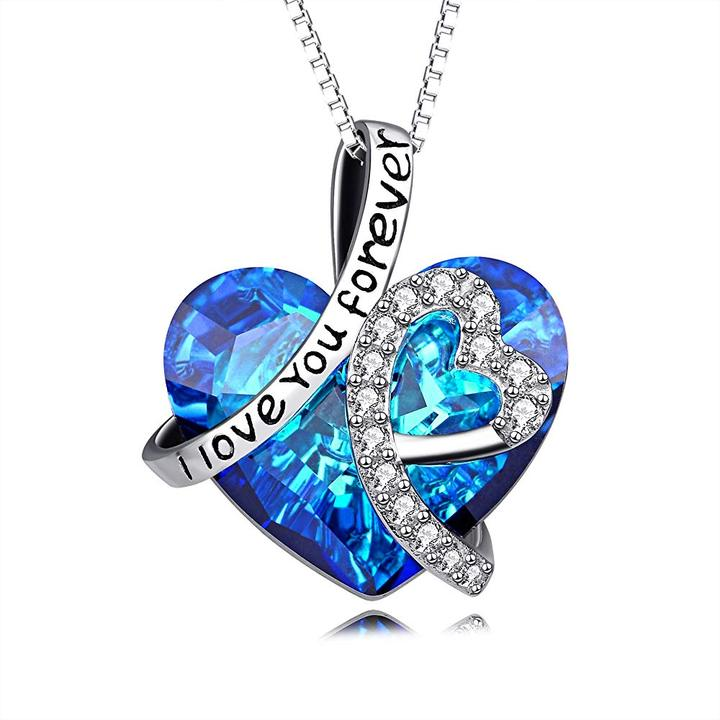 I Love You Forever Heart Necklace