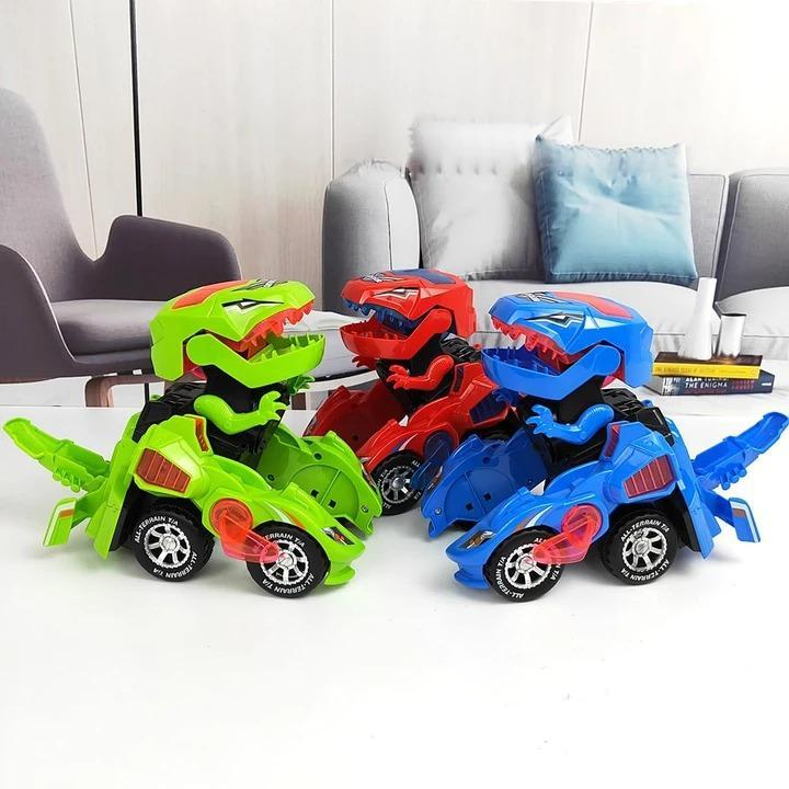 Transforming Dinosaur LED Car - Dinosaur Transformer Toys - Dinosaur Transformer Car - Remote control Car that turns into a Dinosaur - dinobots - Toys for kids - redepicdeals