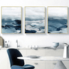 The Brushed Ocean Canvas