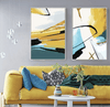 Modern Abstract Yellow Canvas