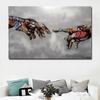 Graffiti Hand of God Canvas