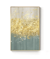 The Golden Splash Canvas