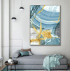 Blue Yellow Abstract Canvas