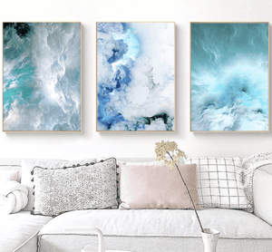 Cloudy Wave Canvas