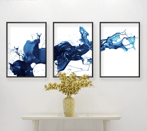 Cobalt Splash Canvas
