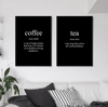 Coffee and Tea Canvas