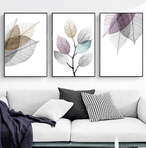 Color Splash Leaf Canvas