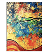 Colorful Trees Canvas