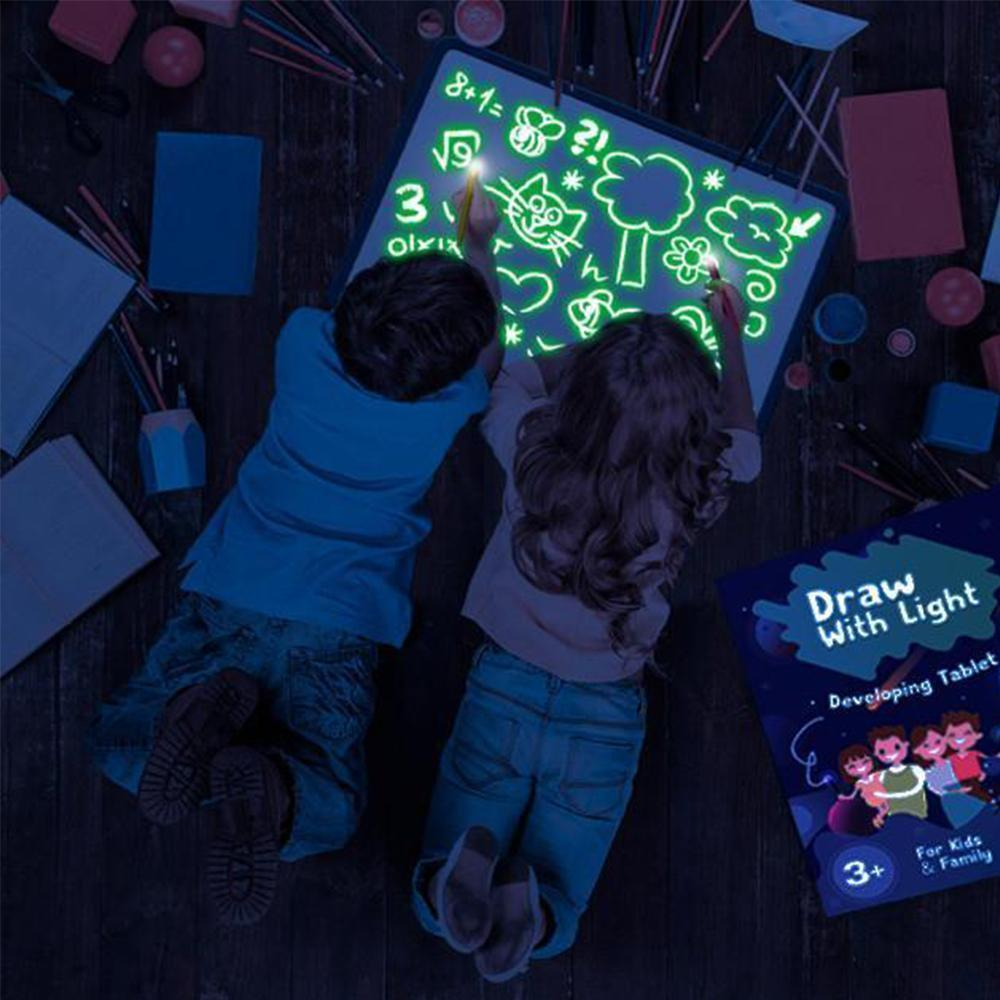 Light drawing board pad for kids