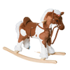 Kids Ride On Rocking Horse Toy Plush w/Neigh Sound